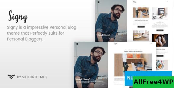 Download Signy v1.8.1 - A Personal Blog WordPress Theme