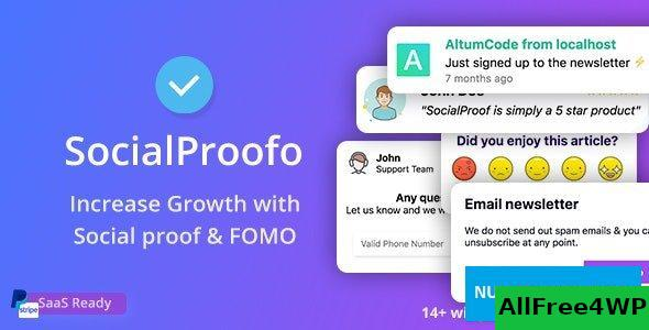 SocialProofo v1.7.5 - 14+ Social Proof & FOMO Notifications for Growth (SaaS Ready)
