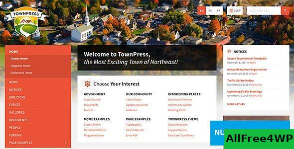 Download TownPress v3.3.1 - Municipality WordPress Theme