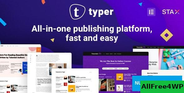 Download Typer v1.7.2 - Amazing Blog and Multi Author Publishing Theme