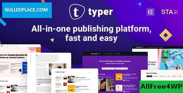 Download Typer v1.8.1 - Amazing Blog and Multi Author Publishing Theme