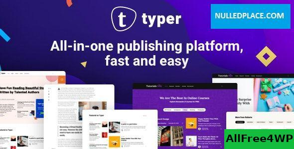 Download Typer v1.8.2 - Amazing Blog and Multi Author Publishing Theme
