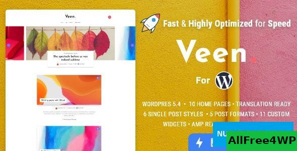 Download Veen v1.2.3 - Minimal & Lightweight Blog for WordPress