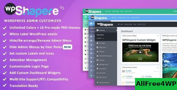 Wpshapere V5 0 4 Wordpress Admin Theme