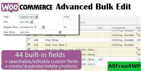 Woocommerce Advanced Bulk Edit V4 4 3 3