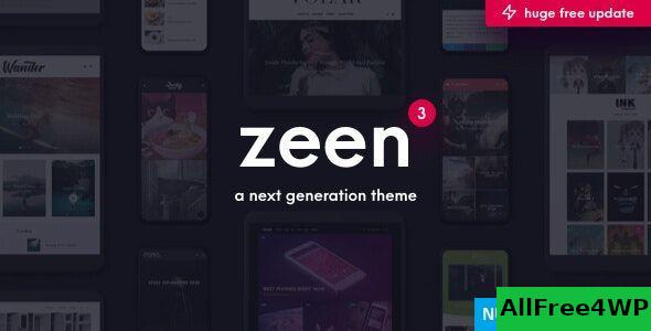 Download Zeen v3.7.1 - Next Generation Magazine WordPress