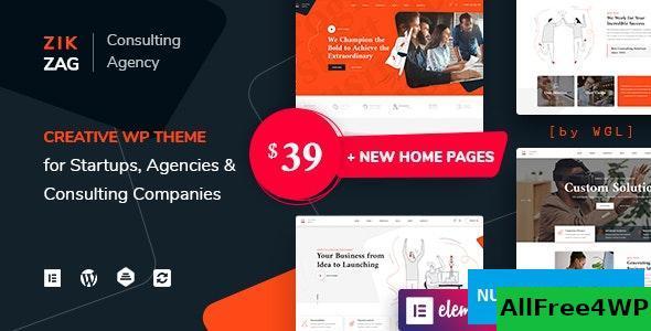 Download ZikZag v1.0 - Consulting & Agency WordPress Theme