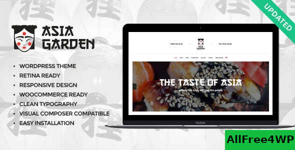 Asia Garden v1.2 – Asian Food Restaurant WordPress Theme