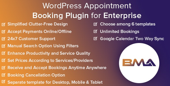 BMA v1.2.3 – WordPress Appointment Booking Plugin for Enterprise