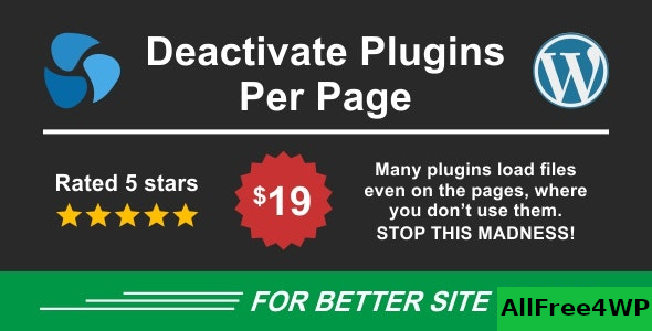 Deactivate Plugins Per Page v1.10.0 – Improve WordPress Performance