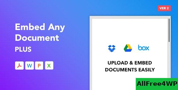 Embed Any Document Plus v2.5.0 – WordPress Plugin