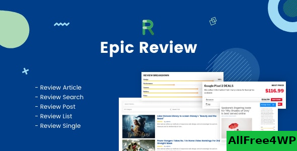 Epic Review v1.0.2 – WordPress Plugin & Add Ons for Elementor & WPBakery Page Builder