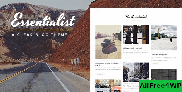 Essentialist v1.3 – A Narrative WordPress Blog Theme