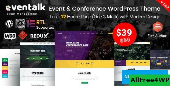 EvnTalk v1.6.2 - Event Conference WordPress Theme