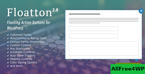 Floatton v2.0 – WordPress Floating Action Button with Pop-up Contents for Forms or any Custom Contents