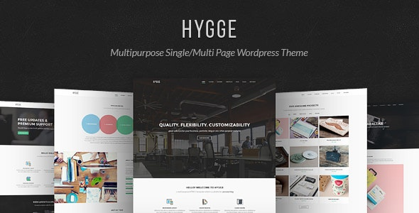 Hygge v1.0.11 – Multipurpose Single/Multi Page WP Theme