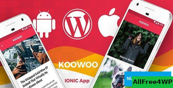 Koowoo v2.3 - Wordpress News Android App + Wordpress Blog iOS App IONIC 3 Full Application