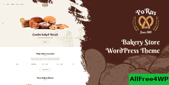 Porus v1.0.2 – Bakery Store WordPress Theme