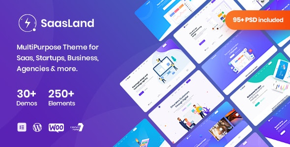 SaasLand v3.1.7 – MultiPurpose Theme for Saas & Startup