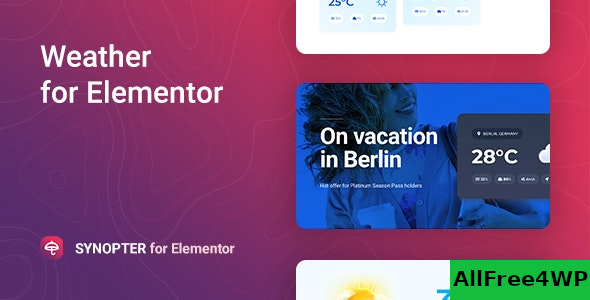 Synopter v1.0.0 – Weather for Elementor