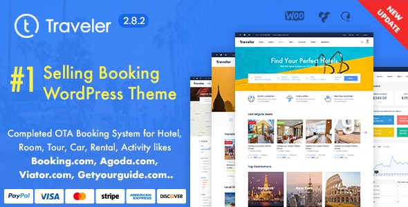 Traveler v2.8.2 – Travel Booking WordPress Theme