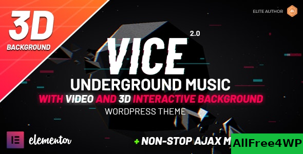 Vice v2.0.1 – Underground Music Elementor WordPress Theme