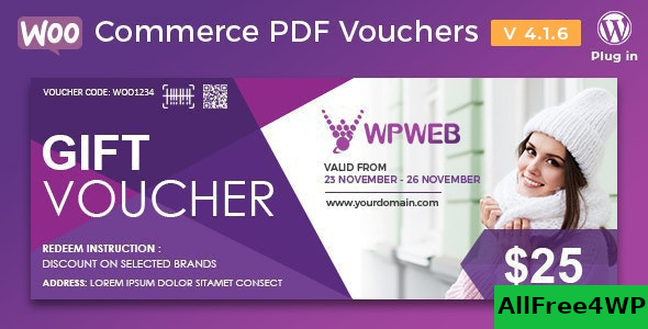 WooCommerce PDF Vouchers v4.1.5 – WordPress Plugin