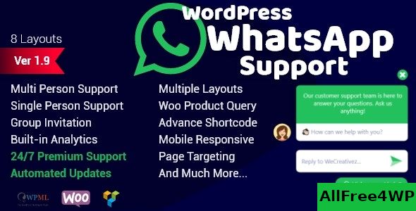 WordPress WhatsApp Support v1.9.4