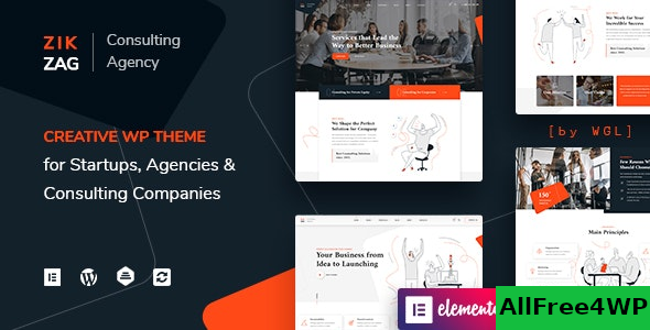 ZikZag v1.0.4 – Consulting & Agency WordPress Theme