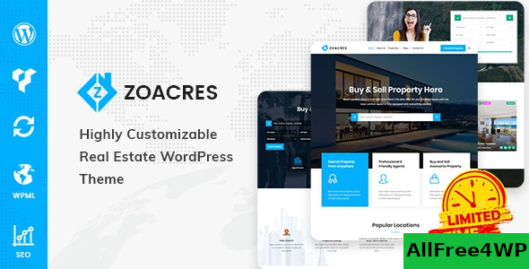 Zoacres v1.1.0 – Real Estate WordPress Theme