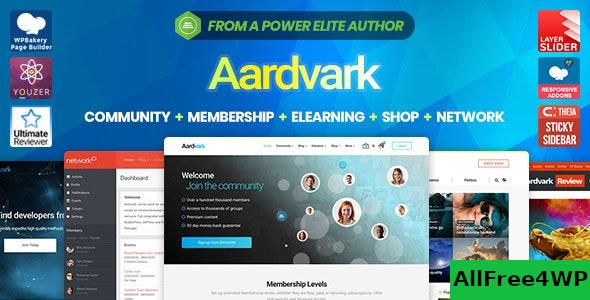 Nulled Aardvark v4.23 – Community, Membership, BuddyPress Theme NULLED