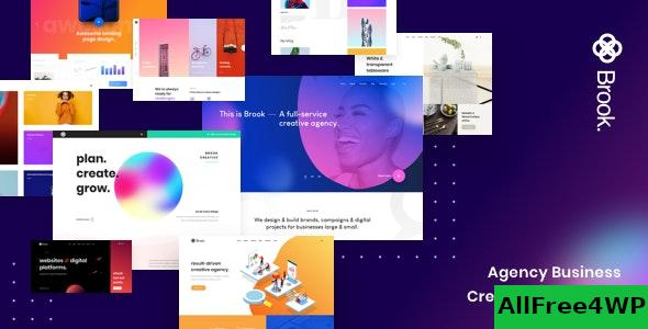 Nulled Brook v2.0.1 – Agency Business Creative WordPress Theme NULLED