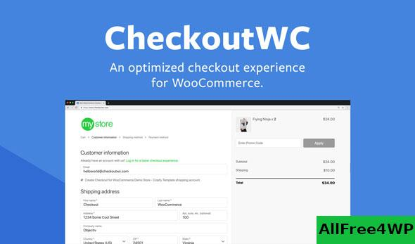 CheckoutWC v3.7.1 – Optimized Checkout Page for WooCommerce