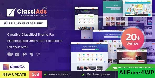 Nulled Classiads v5.8.4 – Classified Ads WordPress Theme NULLED
