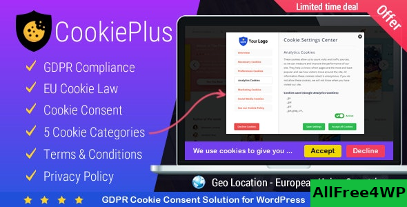 Cookie Plus v1.4.7 – GDPR Cookie Consent Solution