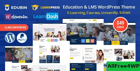 Nulled Edubin v6.2.0 – Education LMS WordPress Theme NULLED