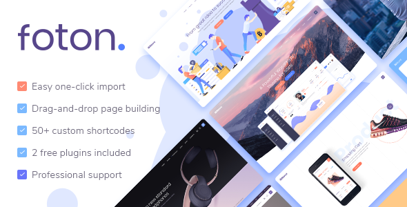 Nulled Foton v1.6 – A Multi-concept Software Landing Theme NULLED