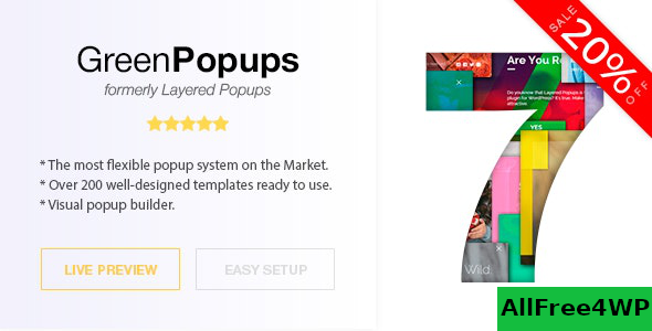 Green Popups (formerly Layered Popups) v7.0.6 – Popup Plugin for WordPress
