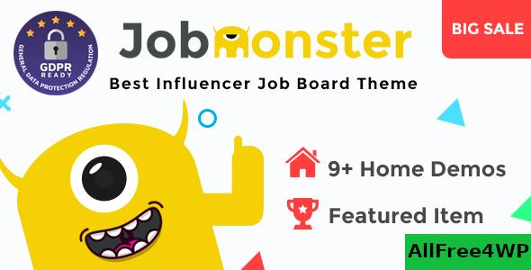 Nulled Jobmonster v4.6.2 – Job Board WordPress Theme NULLED