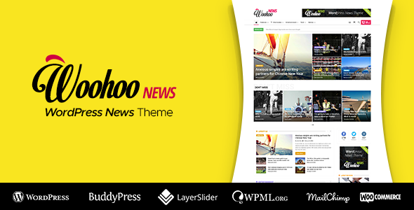 Nulled Woohoo v2.4.5 – WordPress news and magazine multi-concept website theme NULLED