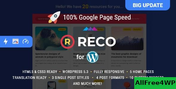 Nulled Reco v4.5.0 – Minimal Theme for Freebies NULLED