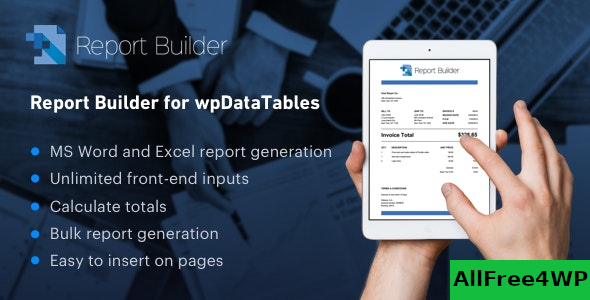 Report Builder add-on for wpDataTables v1.1.8