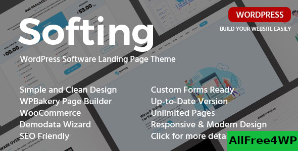 Softing v1.3.3 – WordPress Software Landing Page Theme