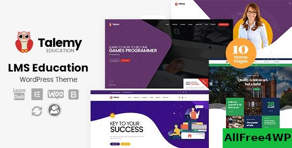 Nulled Talemy v1.2 – LMS Education WordPress Theme NULLED