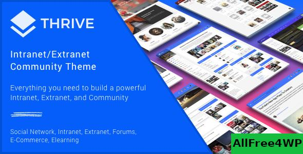 Nulled Thrive v3.1.9 – Intranet & Community WordPress Theme NULLED