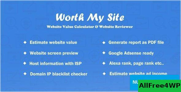 Worth My Site v1.9.9 – Website Value Calculator – nulled