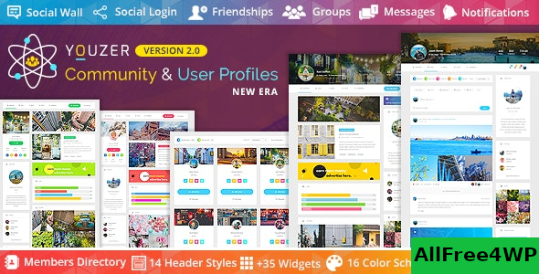 Youzer v2.5.1 – Buddypress Community & WordPress User Profile Plugin