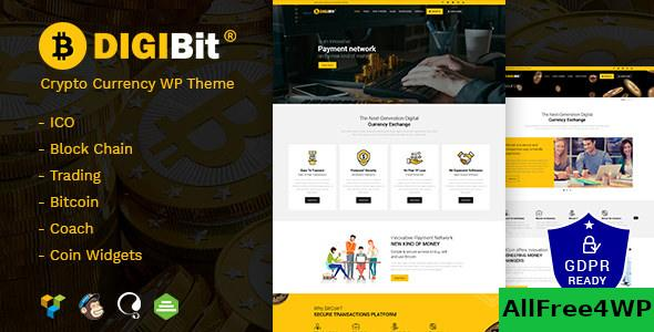 Nulled DigiBit v1.7 – Cryptocurrency Mining WordPress Theme NULLED