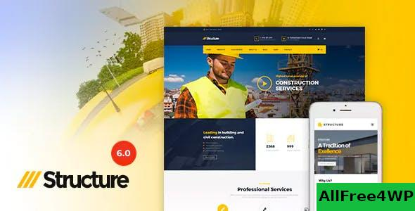 Nulled Structure v6.9.2 – Construction WordPress Theme NULLED