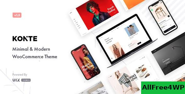Nulled Konte v1.7.4 – Minimal & Modern WooCommerce Theme NULLED
